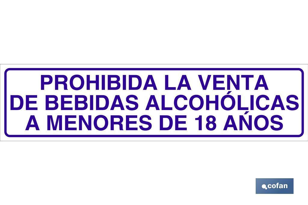 Prohibida la venta de bebidas alcohólicas a menores de 18 años