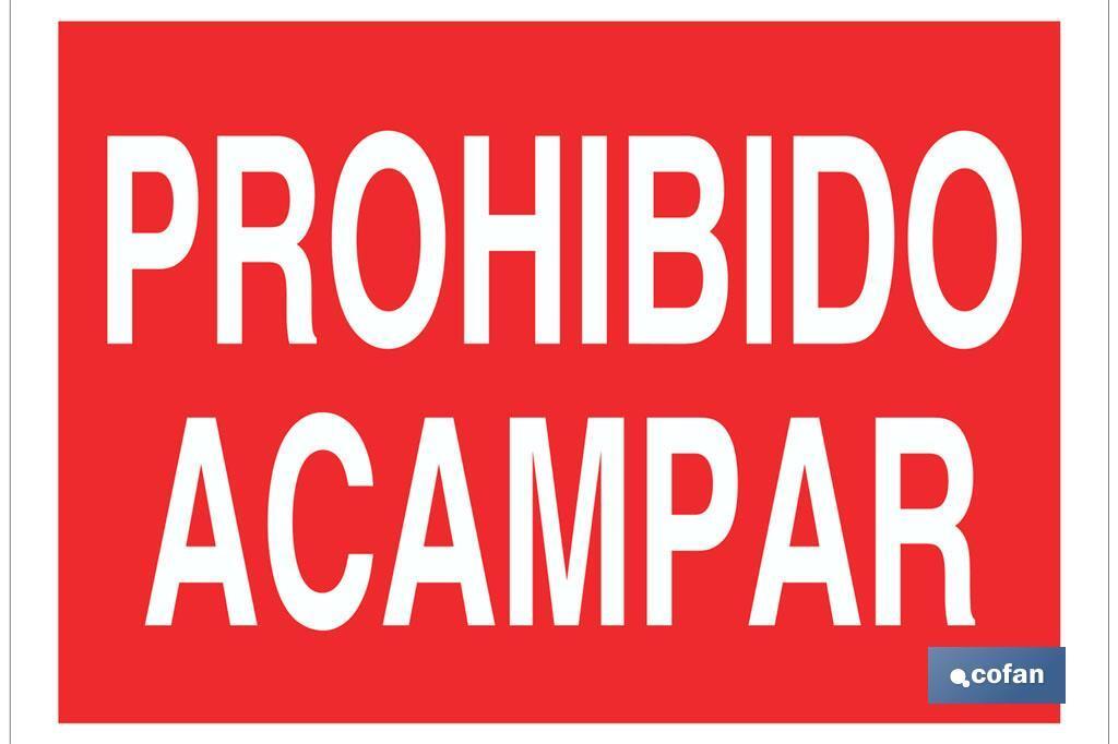 Prohibido acampar