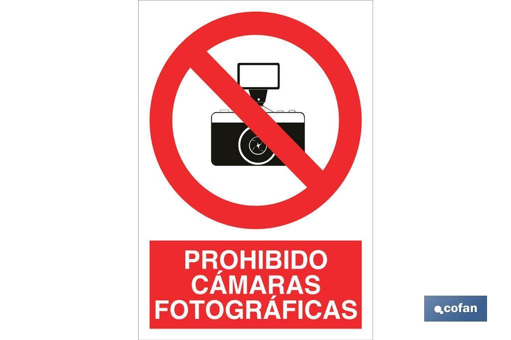 Prohibido cámaras fotográficas