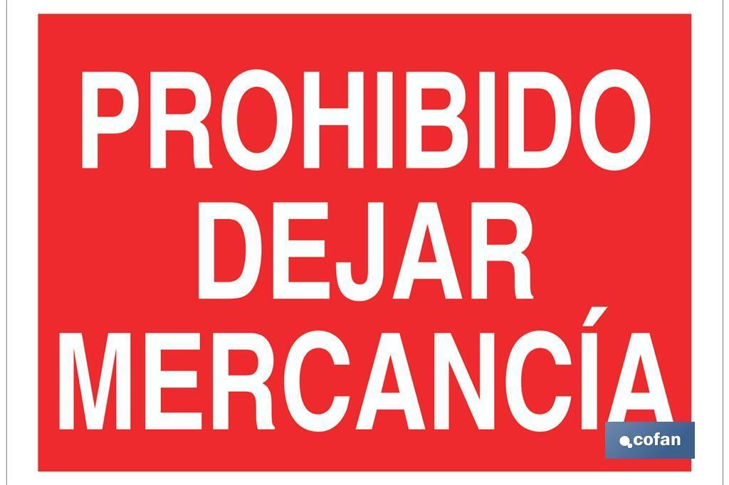 Prohibido dejar mercancía
