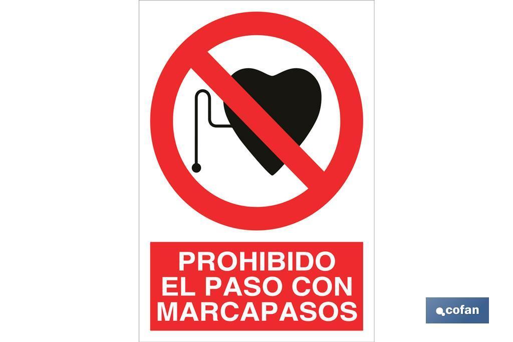 Prohibido el paso con marcapasos