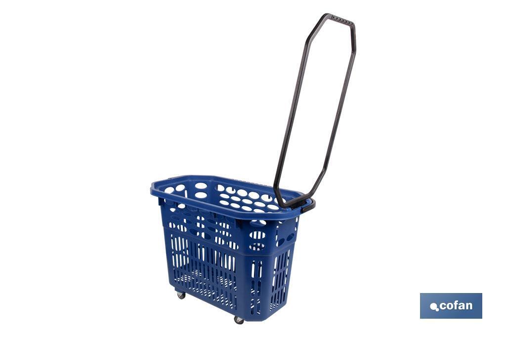 Cesta de la compra con ruedas