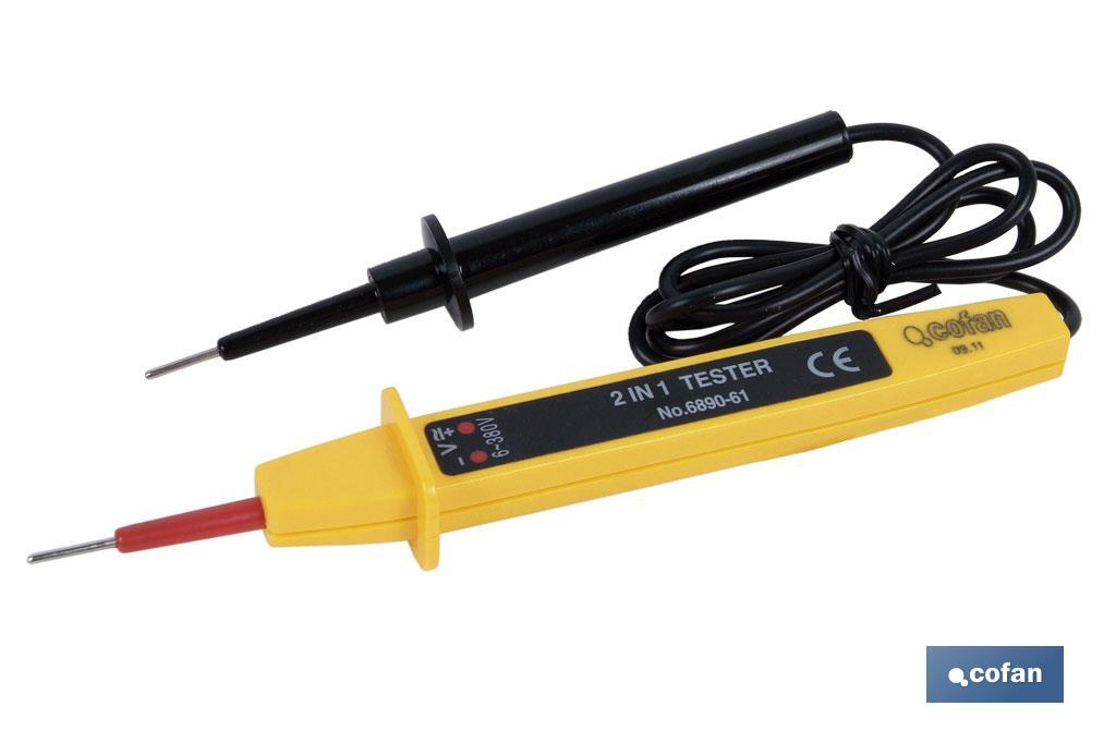 Téster electrónico medidor de tensión 2 en 1