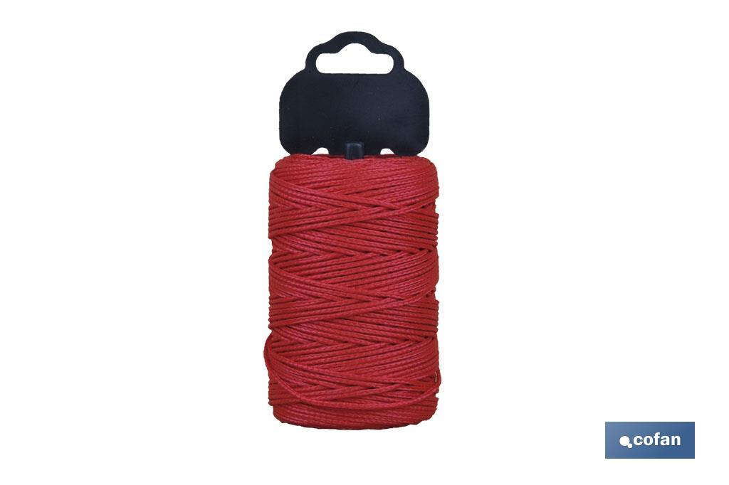 Trenza de Polipropileno / 8842 1,5mm ø Rojo (Blíster)