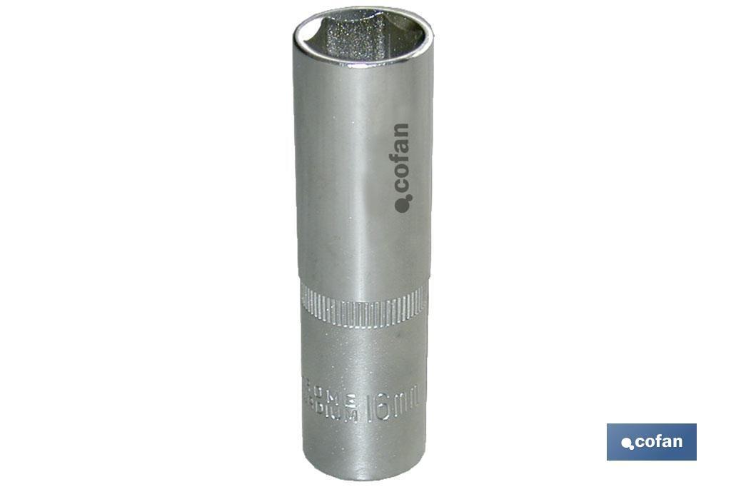 Vaso largo 1/2 métrica mm