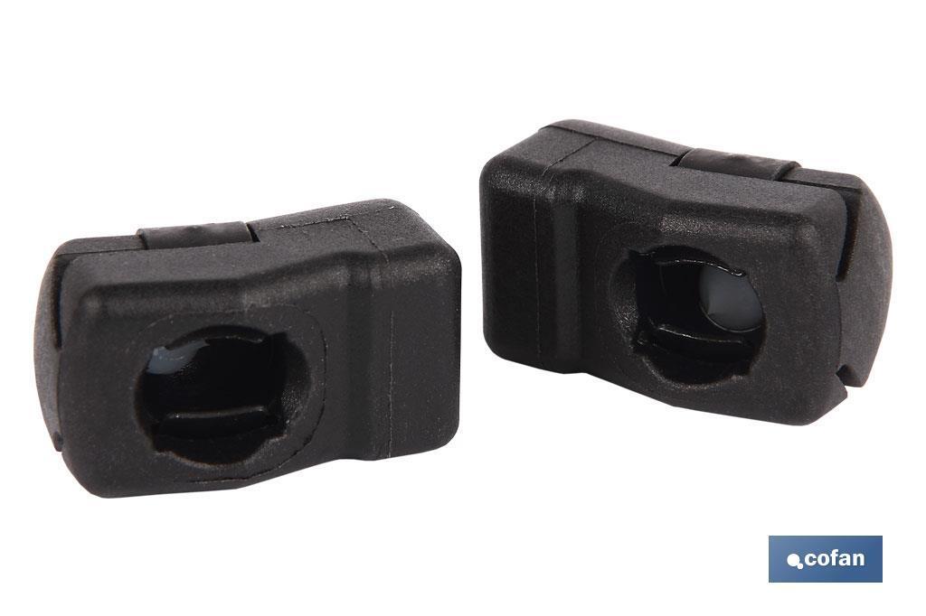 Accesorio rótula 15º muelle neumático 8 mm 2 uds