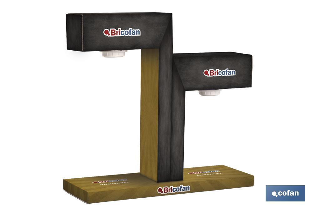 Expositor Eléctrico Mostrador 2 Lámparas E27