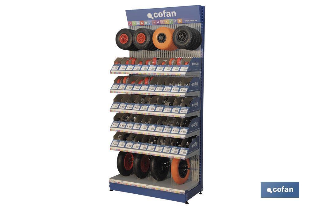Expositor de ruedas 50 gavetas