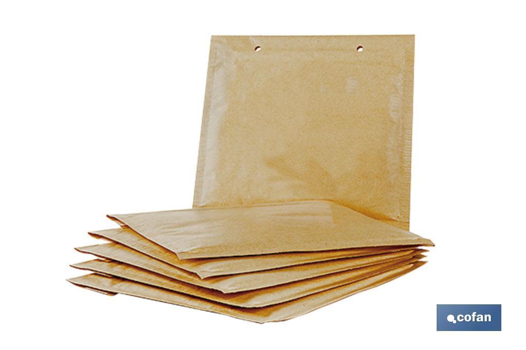 Pack 5 sobres Kraft con burbuja