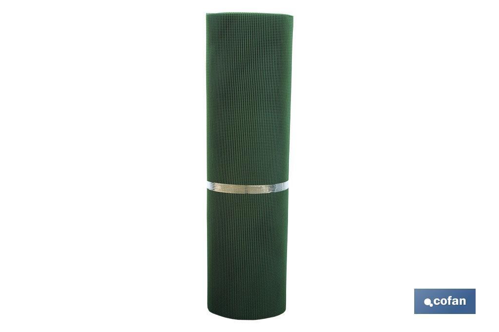 Rollo Malla Plástico Cuadrado Verde 5 mm