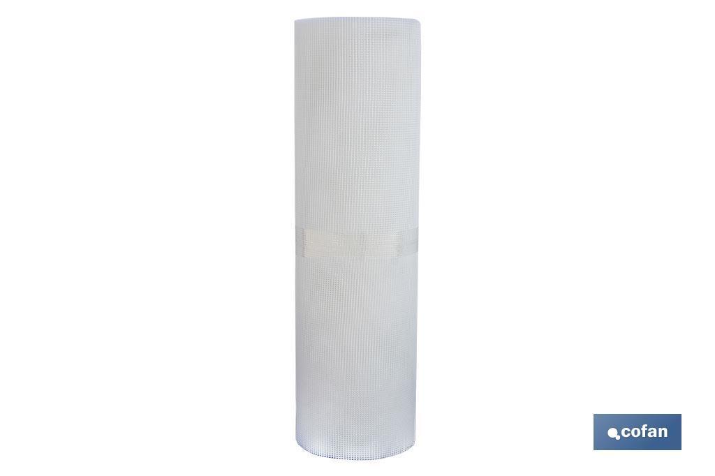 Rollo Malla Plástico Cuadrada Blanca 5 mm