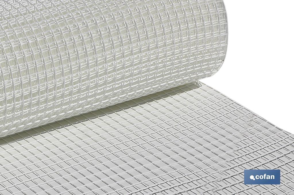 Rollo Malla Plástico Cuadrada Blanco 20mm
