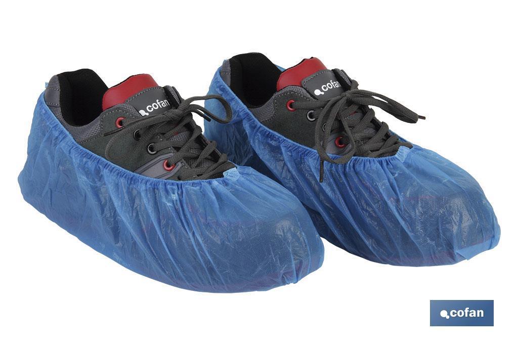 Cubre zapatos universal en CPE (Polietileno Clorado) color Azul