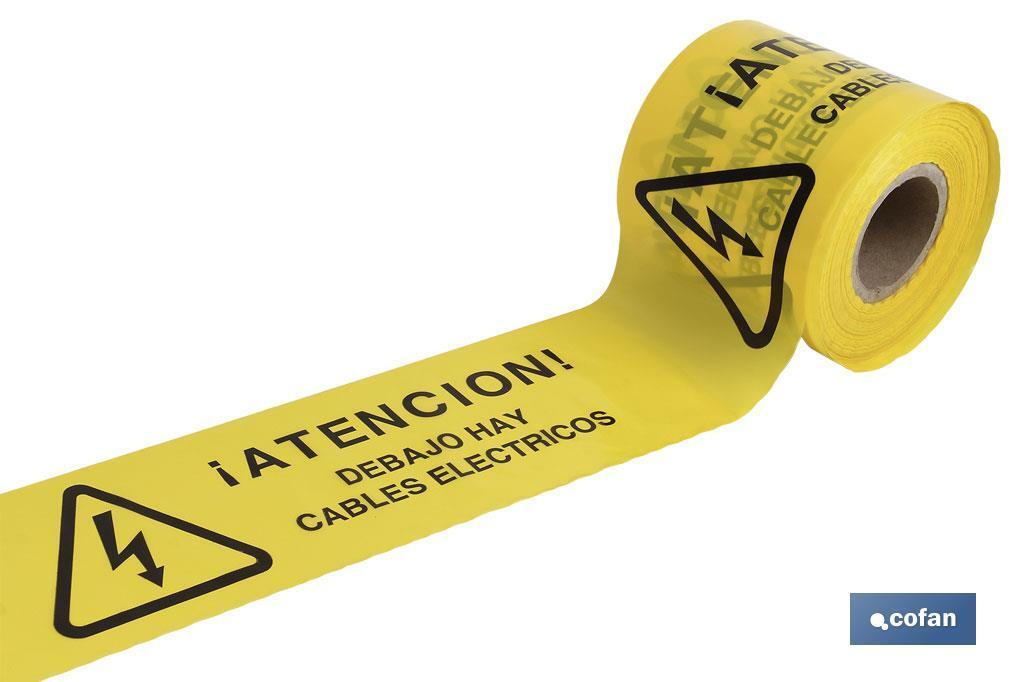 Cinta Balizamiento CABLES ELECTRICOS