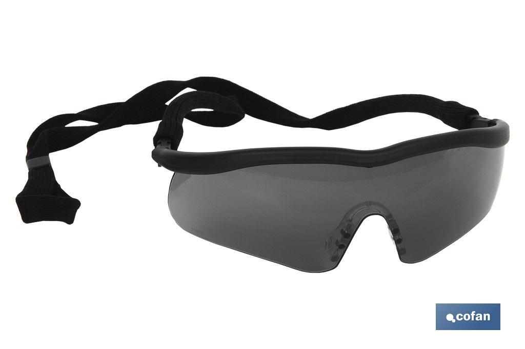Gafa de seguridad sport oscura UV Protection