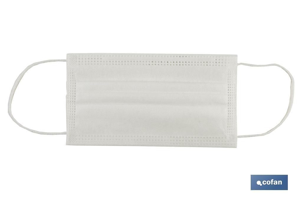 Pack 50 Mascarillas Quirúrgicas desechables no tejidas 3 capas EN 14683 tipo ll