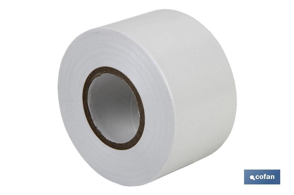 Cinta Aislante de PVC Blanco 0,15 mm x 50 mm x 33 m