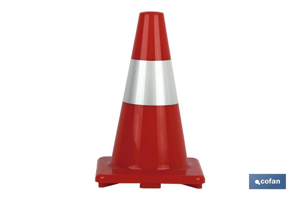 Cono Rojo/Blanco 50 cm