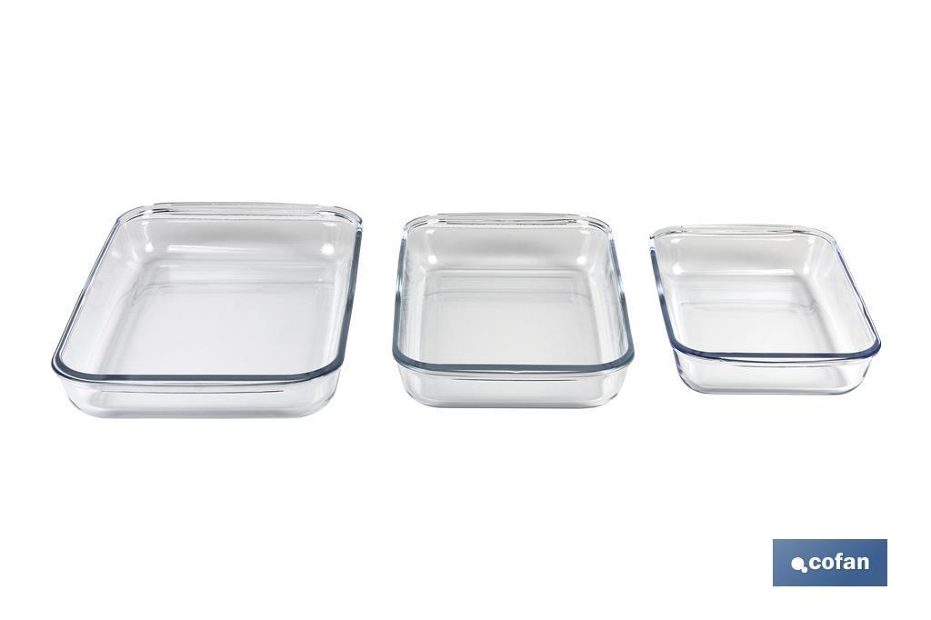 Set de 3 fuentes rectangulares Mod. Baritina