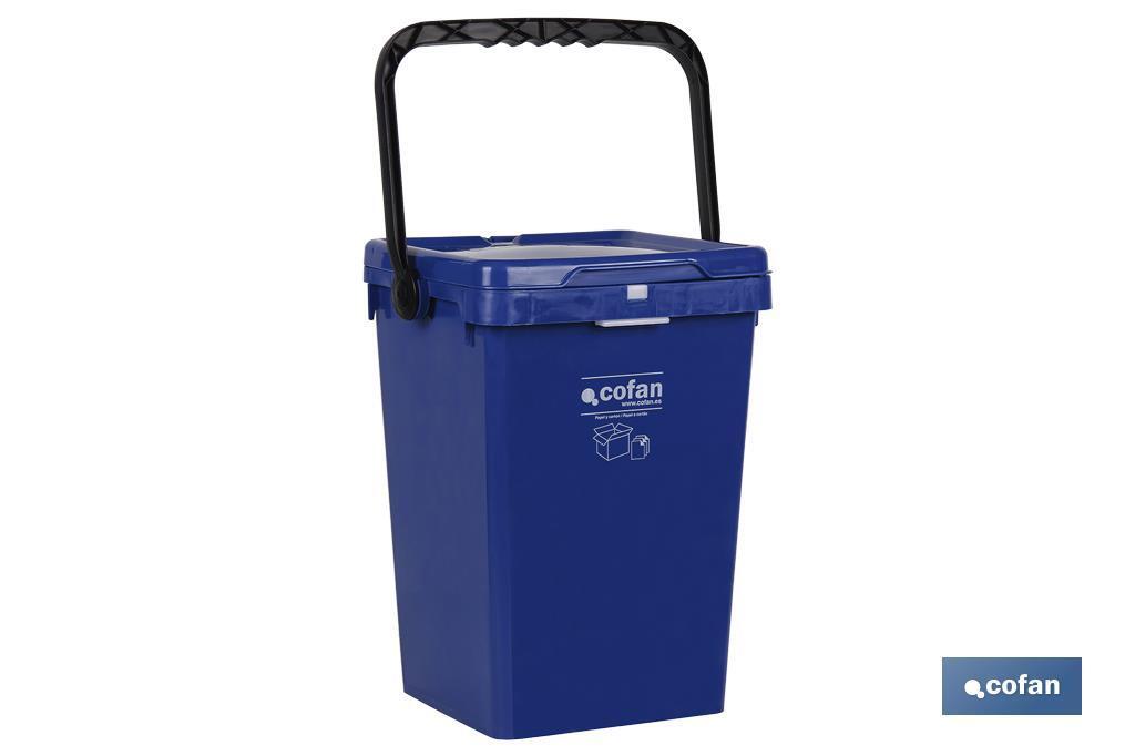 Contenedor Azul para Papel y Cartón