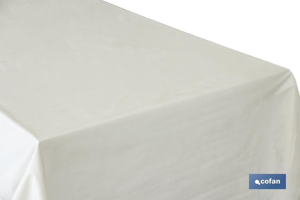 Protector de mesa  PVC blanco mate Mod.Pureza