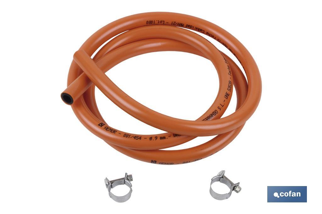 Tubo gas + Abrazaderas