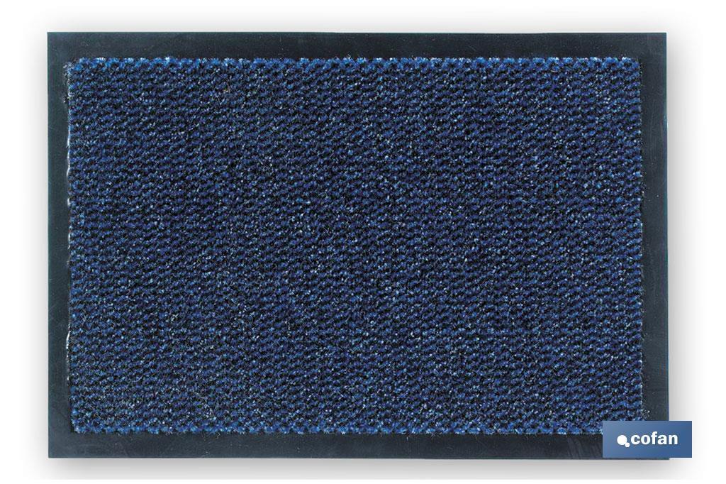 Felpudo polipropileno azul