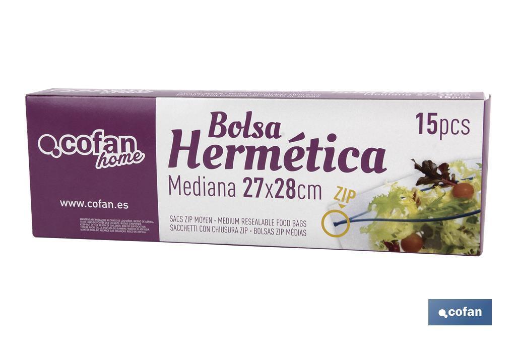 Bolsas Zip Mediana
