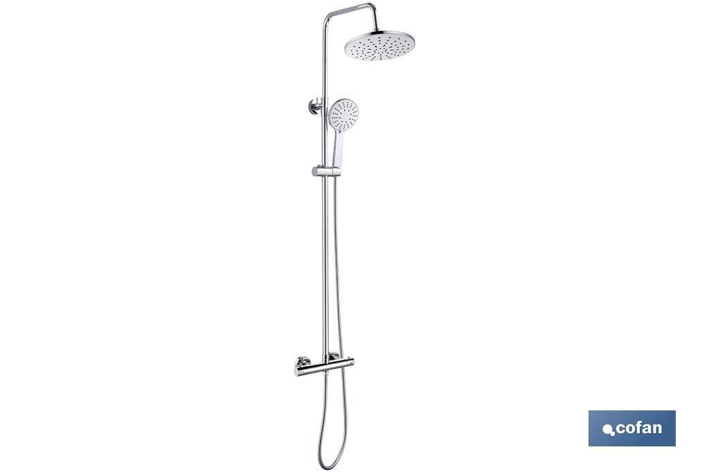 Columna de ducha con grifo monomando