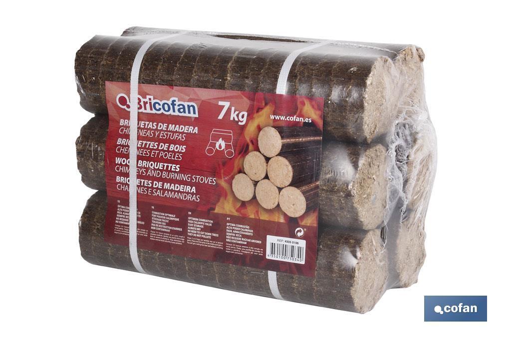 Briquetas de madera 7 Kgs