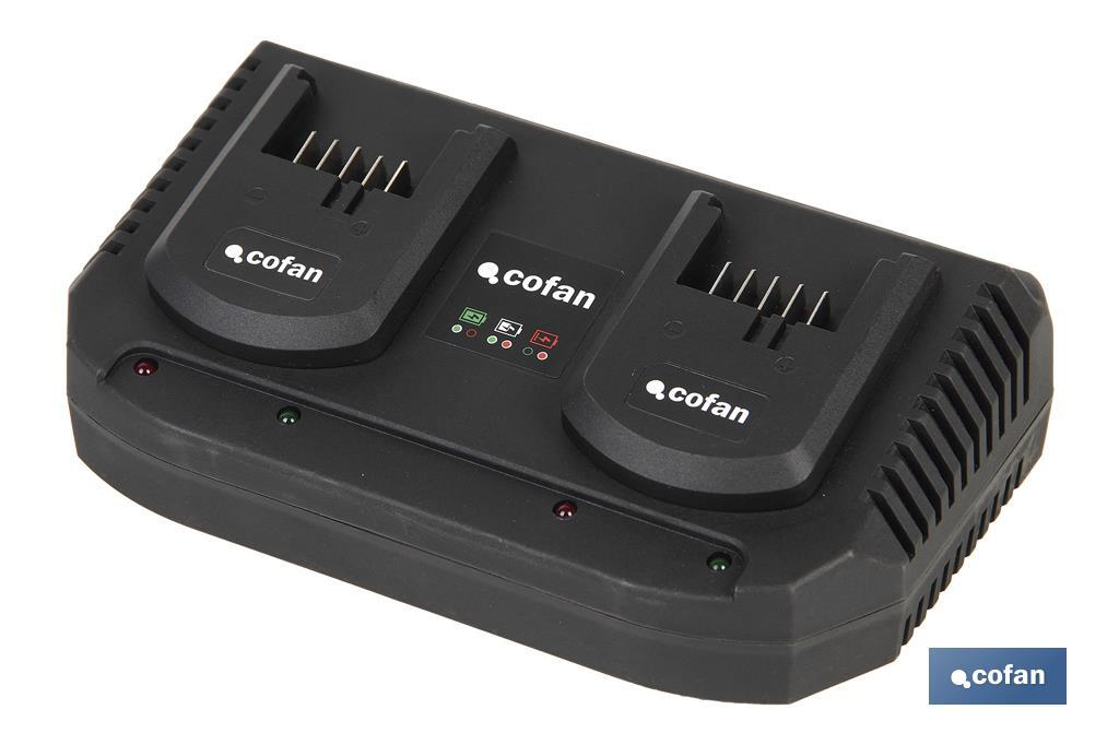 Cargador de Baterías 18 V - Doble carga rápida 2x3´5 A