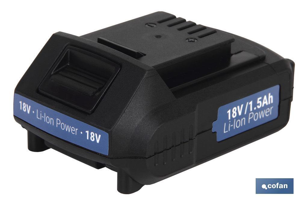 Batería recargable 18V de litio 1.5Ah