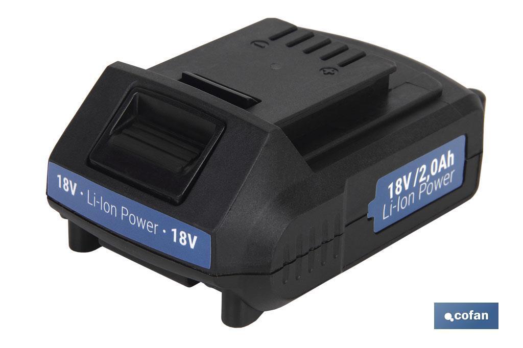 Batería recargable 18V de litio 2.0 Ah