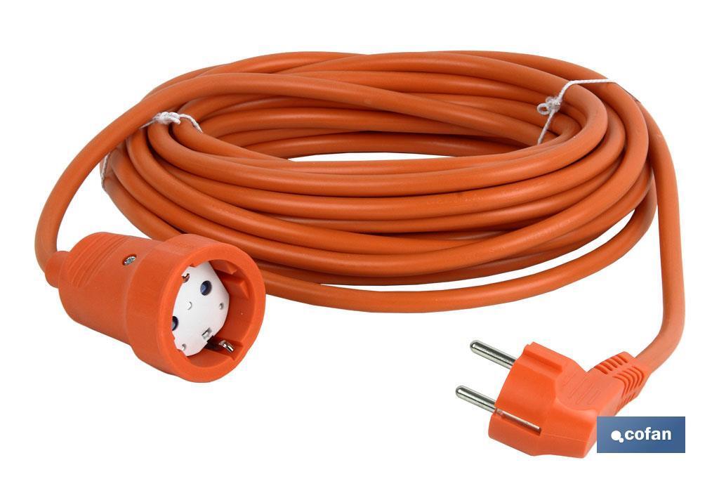 Prolongador Bipolar con T/T lateral Cable Naranja