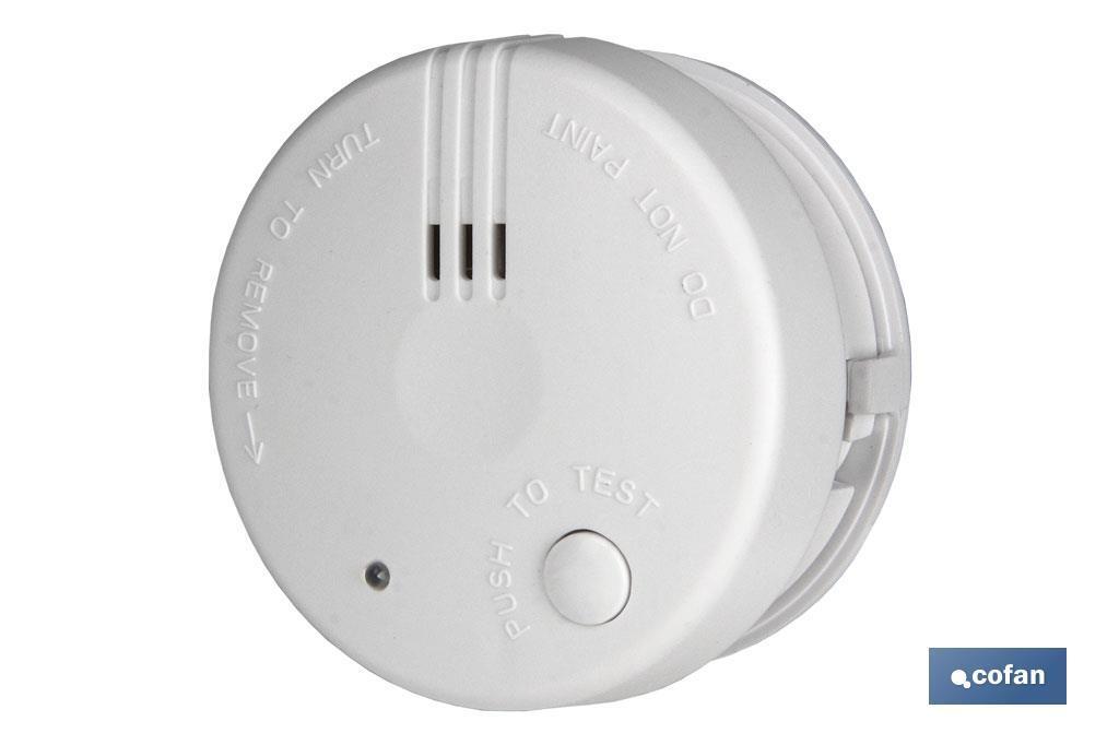 Detector Mini de Humos con Alarma Sonido