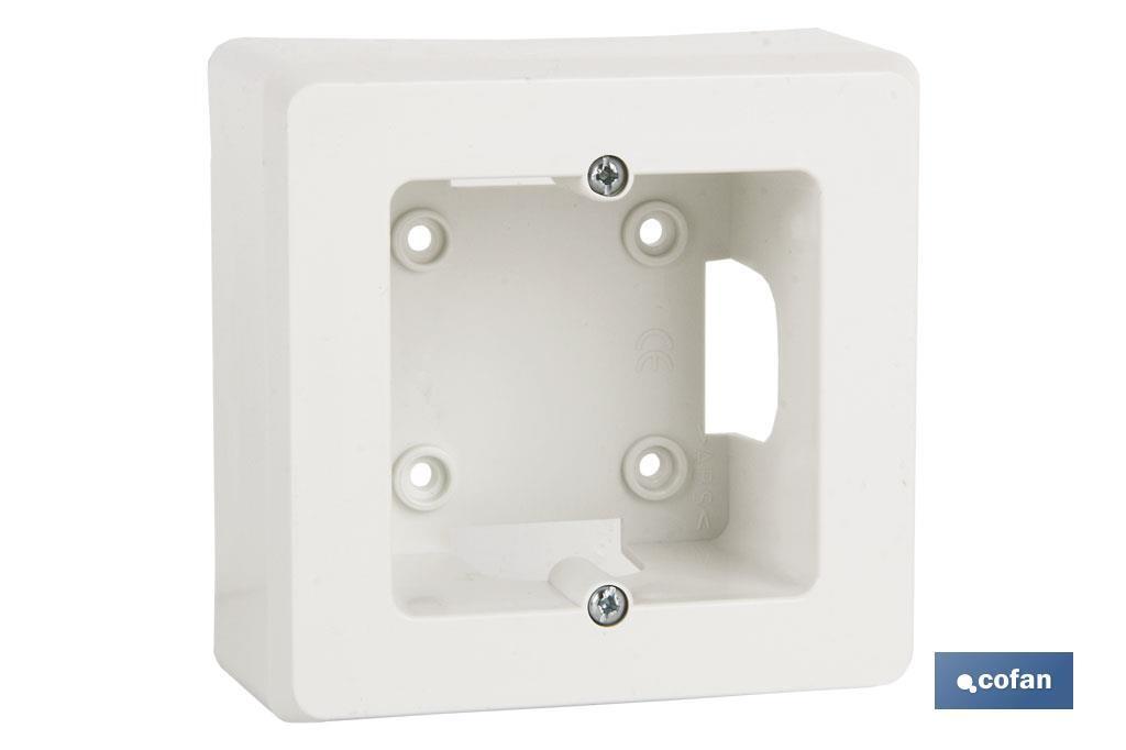 Zócalo de Superficie Blanco para Mecanismos variados