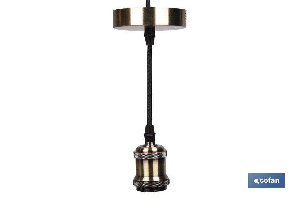 Cable para Lámpara Deco Oro Claro