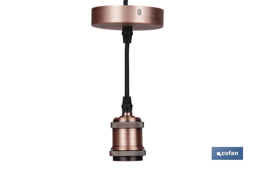 Cable para Lámpara Deco Oro Rosa