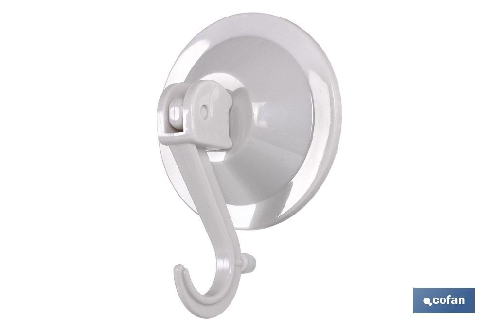 Colgador Ventosa Cierre Seguridad. 77mm diámetro