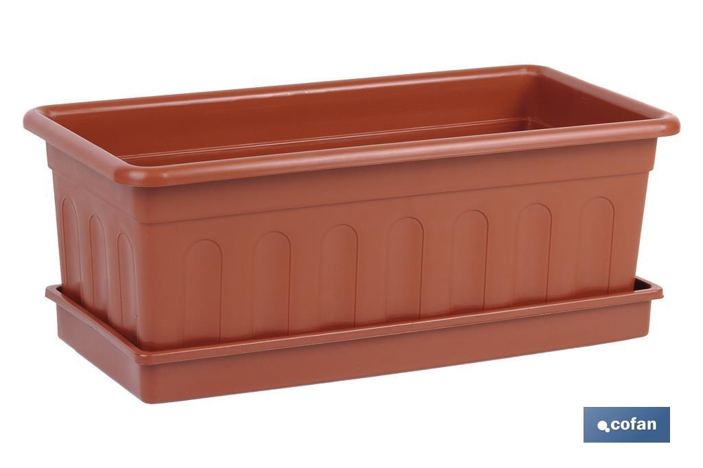 Jardinera Mod. Azahar marrón + Plato