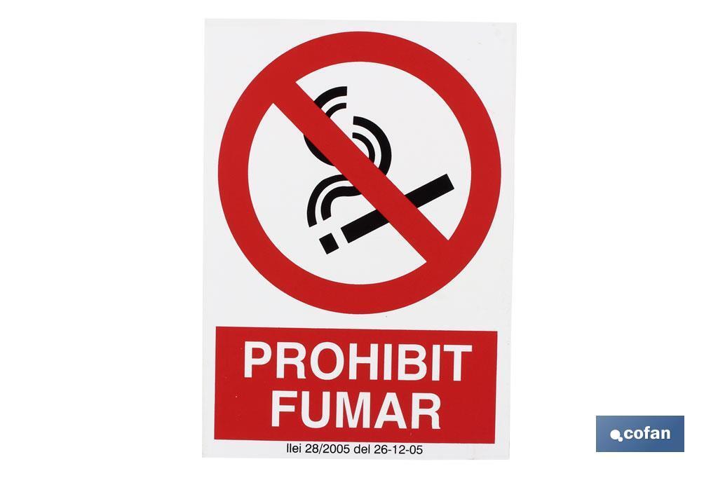 Prohibit fumar