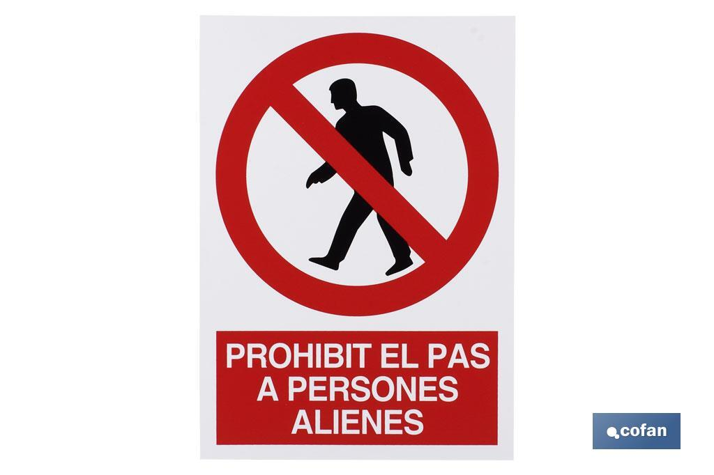 Prohibit pas persones alienes