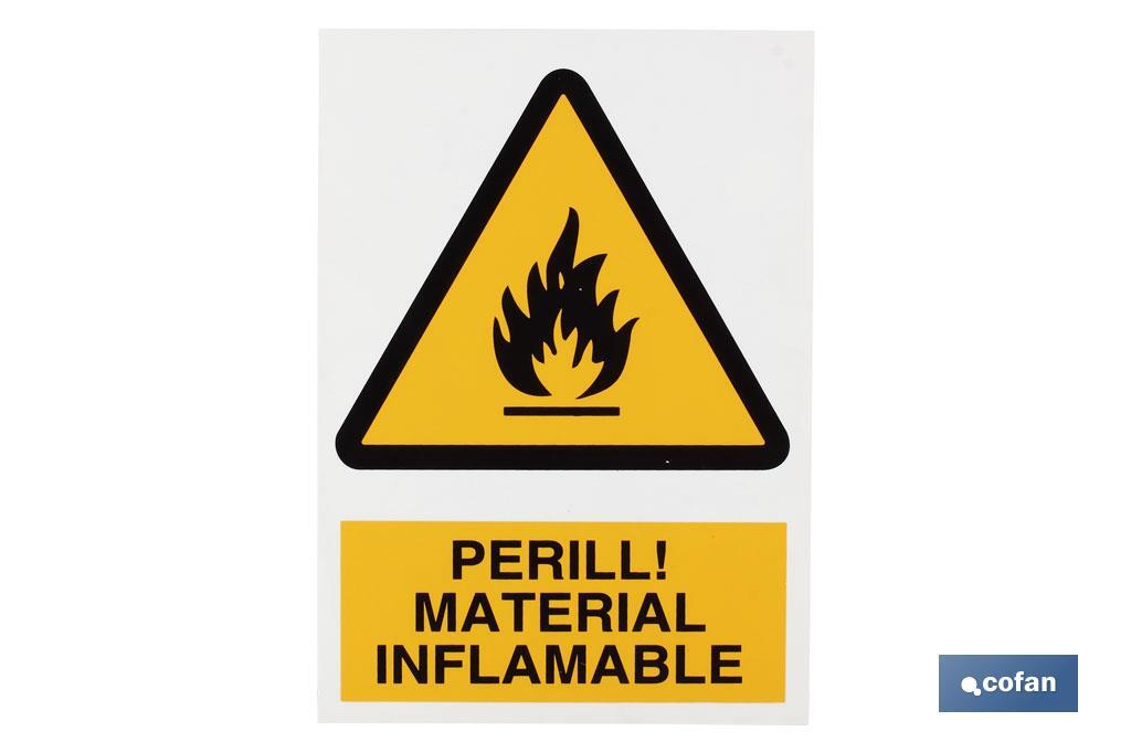Perill material inflamable