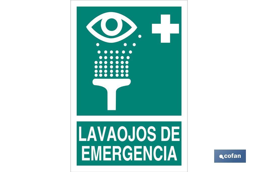 Lavaojos de Emergencia Pictograma + Texto