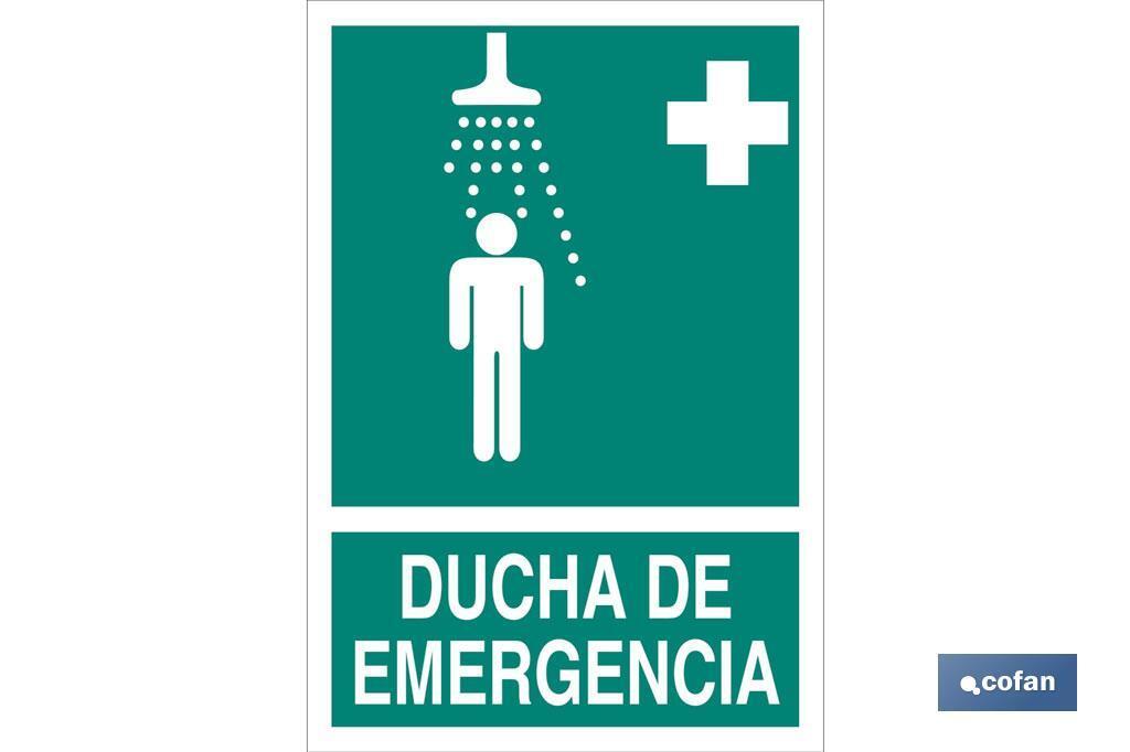 Ducha Emergencia imagen + texto
