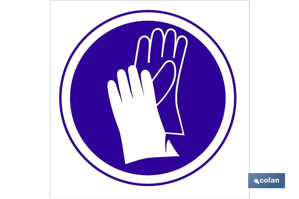 Obligatorio guantes