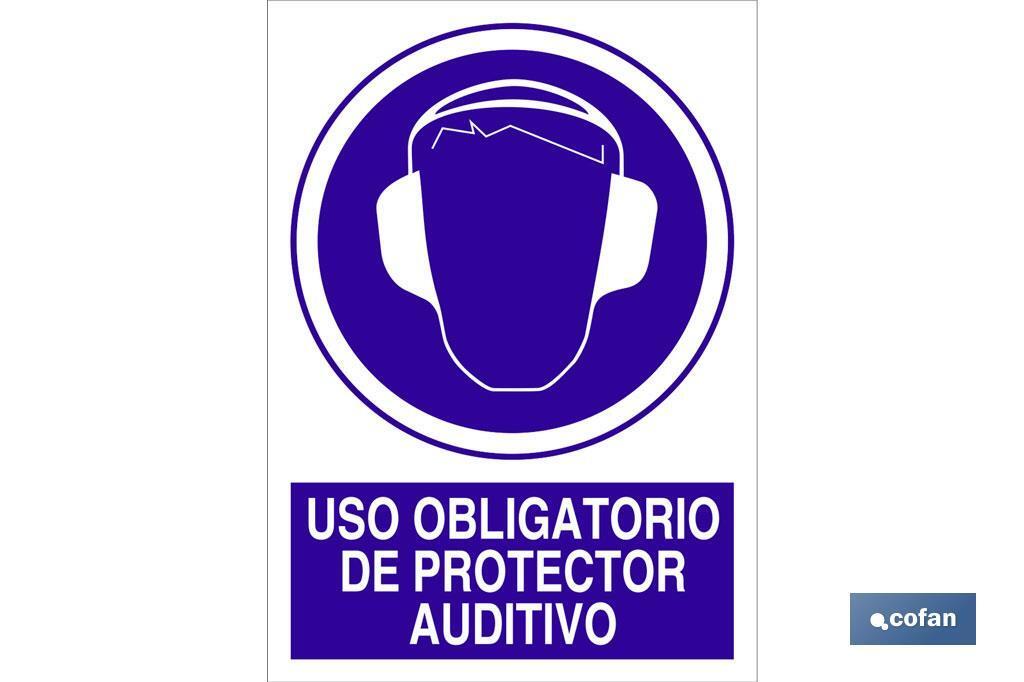 Uso obligatorio de protector auditivo