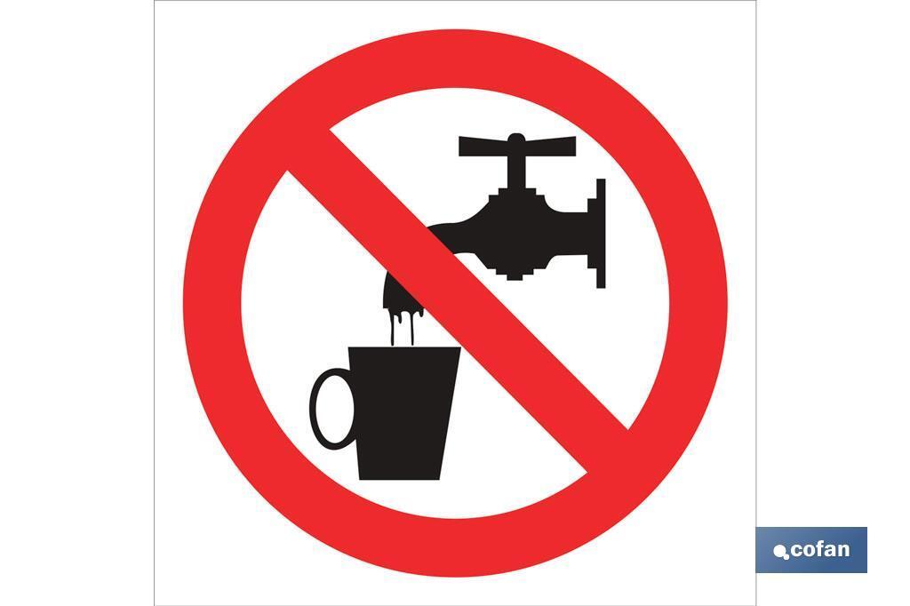 Prohibido beber agua