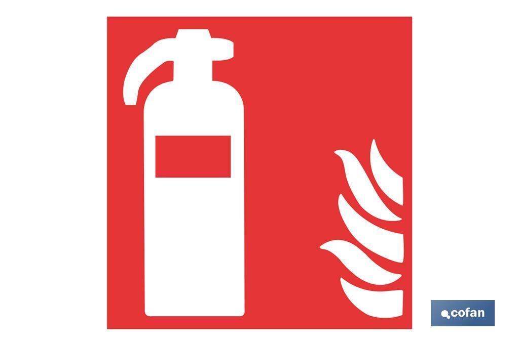 Extintor de incendios Pictograma