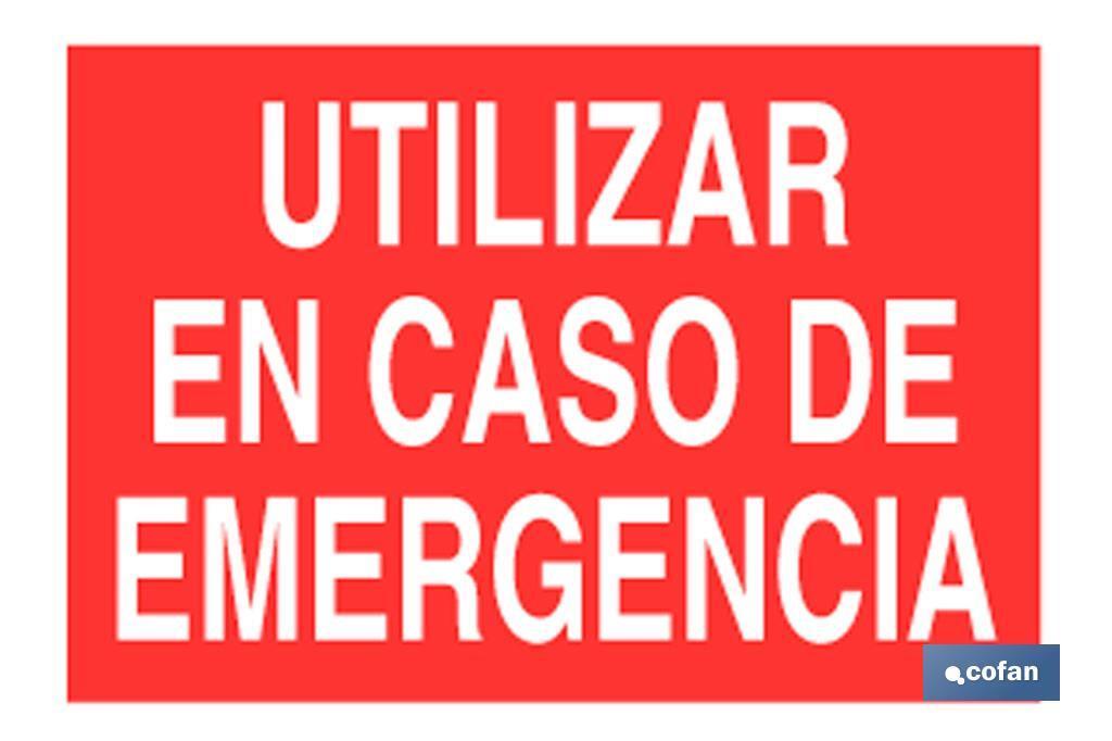 Utilizar caso emergencia
